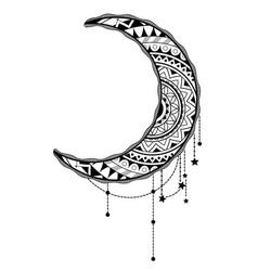 Crescent moon design vector