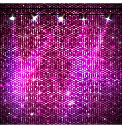 Disco abstract pink neon background vector