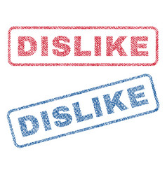 Dislike textile stamps vector
