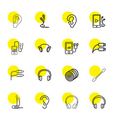 ear icons vector image