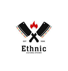 ethnic traditional african cultural soul kitchen vector image
