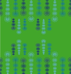 Fairy lights on green background vector
