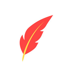 feather pen flat icon vector image