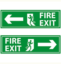 fire exit 2 vector image
