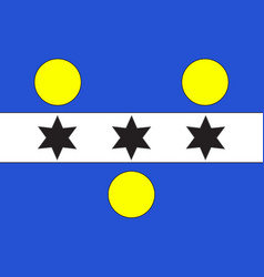 Flag of cherbourg-octeville in manche of normandy vector