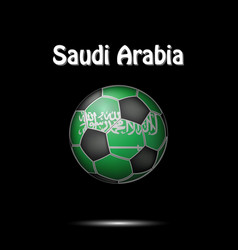 flag of saudi arabia as an soccer ball vector image