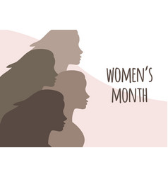 flat banner with women and women s month vector image