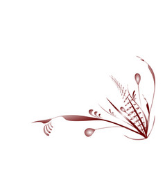 Flourish plants red vector
