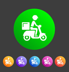 Food delivery icon flat web sign symbol logo label vector