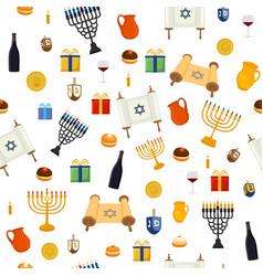 For hanukkah is big jewish holiday vector