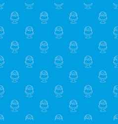 glass ice cream pattern seamless blue vector image