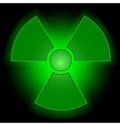 Glowing radioactive symbol vector image