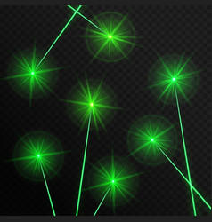 Green laser beams vector