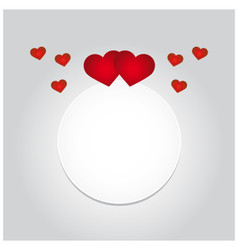 Greeting card with hearts and space for text vector