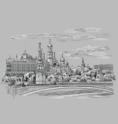 grey moscow-1 vector image