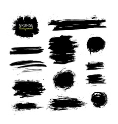 Grunge ink background set Abstract vector