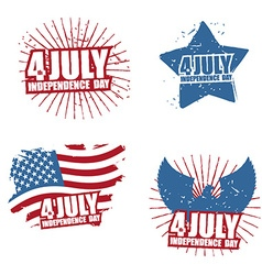 Grunge sign for Independence Day in America Star vector image