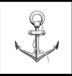 Hand drawn nautical anchor vector