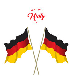 Happy germany unity day template design vector
