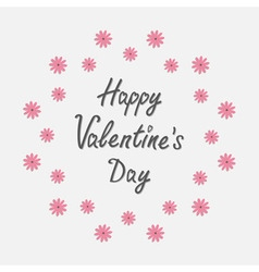 Happy Valentines Day Love card Round frame with vector image vector image