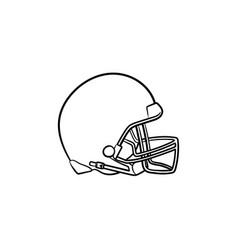 Hockey helmet hand drawn outline doodle icon vector