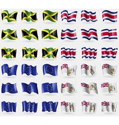 Jamaica Costa Rica European Union British vector