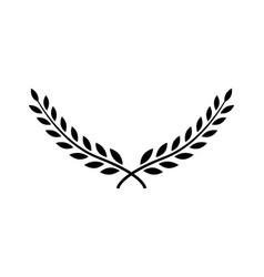 Laurel wreath award branch victory icon vector