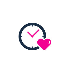 love time logo icon design vector image