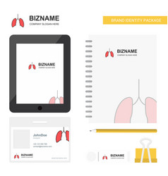 Lungs business logo tab app diary pvc employee vector