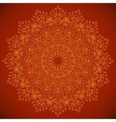 Mandala Round Ornament Pattern vector image
