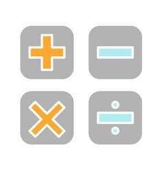 Maths symbols glyph color icon vector