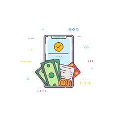 mobile phone wallet vector image