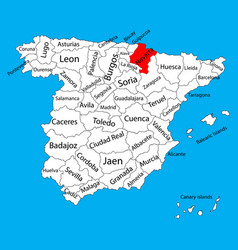Navarra map spain province administrative map vector