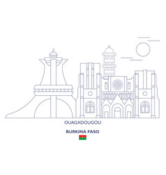 ouagadougou city skyline vector image