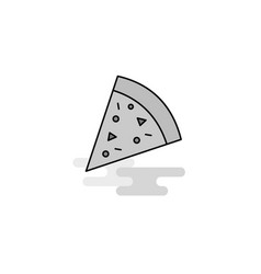 pizza web icon flat line filled gray icon vector image