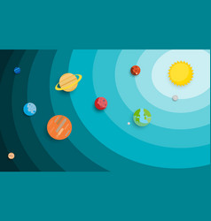 Planet in solar system background use for vector