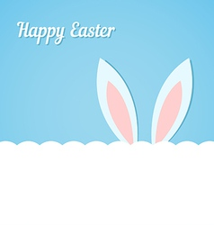 Rabbit ears Easter banner vector image