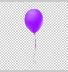 Realistic purple balloon vector