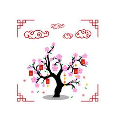 red envelope tree vector image