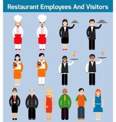 Restaurant employees flat vector image