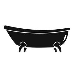 Retro bathtube icon simple style vector