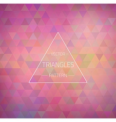 Retro Hipster Geometric Triangles Pattern Texture vector image
