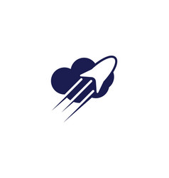 rocket cloud logo design inspiration vector image