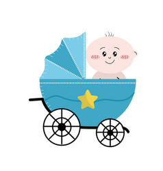 security stroller with bachild inside vector image