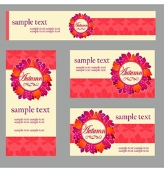 Set cards in the same style and different shape vector