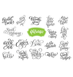 Set phrase of inspirational and vector
