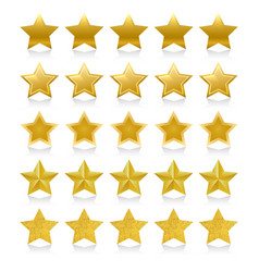 shiny golden five stars vector image