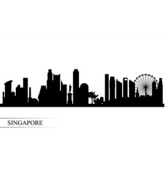 Singapore city skyline silhouette background vector