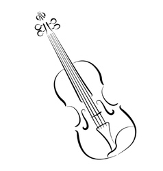 Sketched violin isolated on white background vector