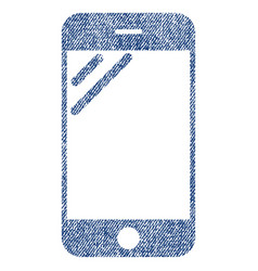 Smartphone screen fabric textured icon vector